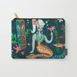 Blonde Leopard Martini Mermaid Carry-All Pouch