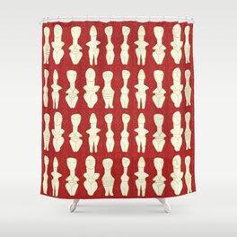 red goddesses 2 Shower Curtain