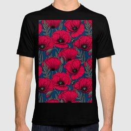 Night poppy garden  T-shirt