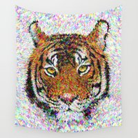 tiger Wall Tapestries featuring Tiger by David Zydd