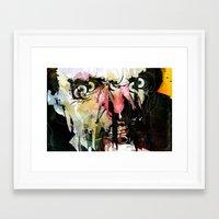 frank Framed Art Prints featuring Frank by Alvaro Tapia Hidalgo