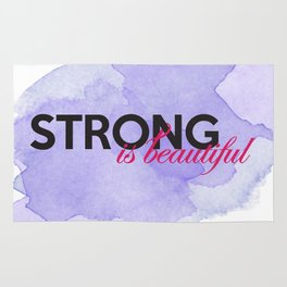 Strong is beautiful: breast cancer strong Rug