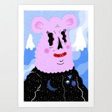 Ice Fluff Art Print