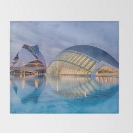 C A L A T R A V A | architect | City of Arts and Sciences III Throw Blanket