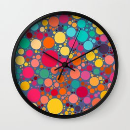 Vector Color Stones Pattern Design Wall Clock