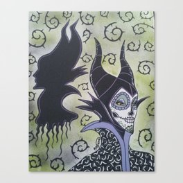 Maleficent Sugar Skull Canvas Print