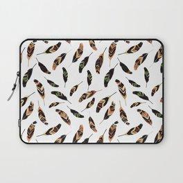 Feathers seamless pattern, vector illustration Laptop Sleeve