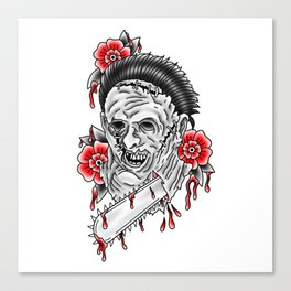 Bloody Leatherface Canvas Print