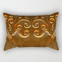 Brass doodle Tree Rectangular Pillow