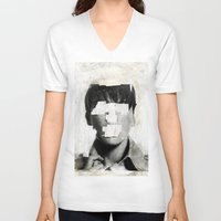 ruben V-neck T-shirts featuring Faceless | number 02 by FAMOUS WHEN DEAD