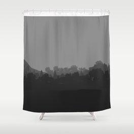Grey Nature Shower Curtain