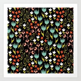 Colette - Black Art Print