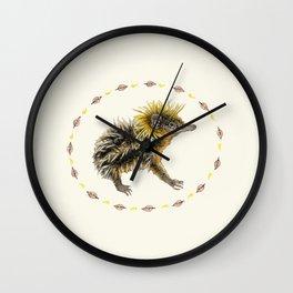 The Lowland Streaked Tenrec Wall Clock