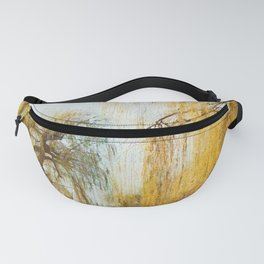 Weeping willow watercolor painting #13 Fanny Pack
