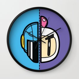Old & New Bomber Man Wall Clock