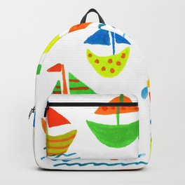 Crazy Sailboats Backpack