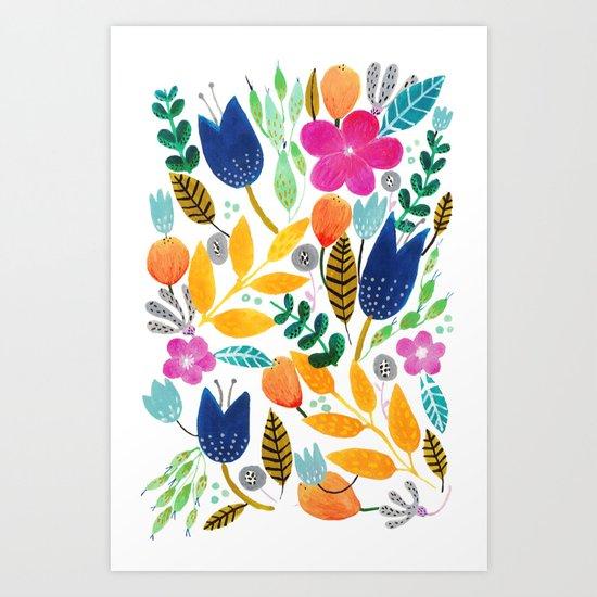 Flower Mayhem Art Print