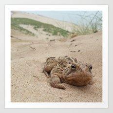 Grumpy Frog Art Print