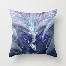 White Crystal Dragon Throw Pillow