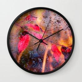 Concept nature : Autumn rain Wall Clock