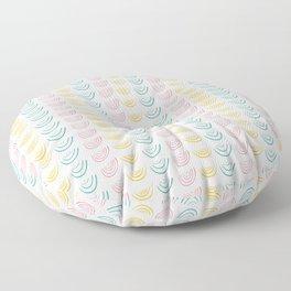 Geometric semicircle curl pattern Floor Pillow