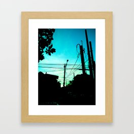 The Chaos of Cables. Framed Art Print