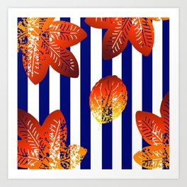 stripes pattern Art Print