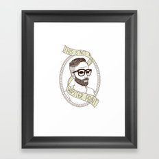 This Is Not A Hipster Print Framed Art Print