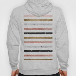 marble and metal stripes Hoody