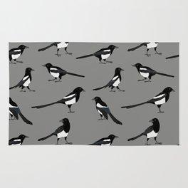 Magpie pattern Rug