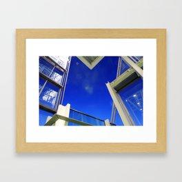Blue Night Abstract Framed Art Print
