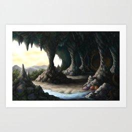 The Dragon Cave Art Print