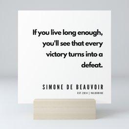 13      Simone De Beauvoir Quotes   190605 Mini Art Print