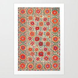 Kermina Suzani Uzbekistan Embroidery Print Art Print