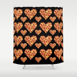 Pizza My Heart Shower Curtain