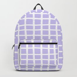 Hand-drawn White Lines on Lavender Backpack