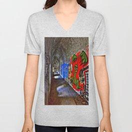 Graffiti Tunnel Unisex V-Neck