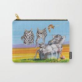 zebra bath Carry-All Pouch