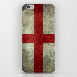 Flag of England (St. George's Cross) Vintage retro style iPhone Skin