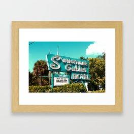 Motel Framed Art Print