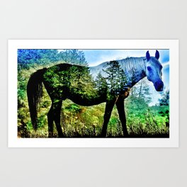 Forrest On Horseback Art Print