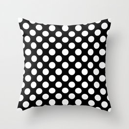 Black and white polka dots pattern Throw Pillow