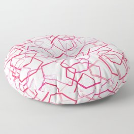 Red Geometrics, Watercolour Floor Pillow