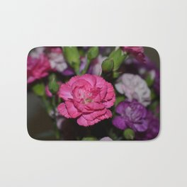 Pink carnation Bath Mat