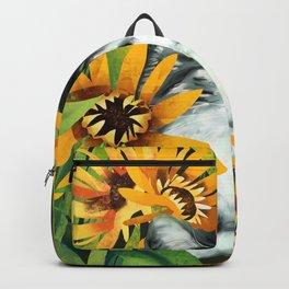 Sunflower cat Backpack