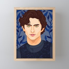 Timothee Chalamet Framed Mini Art Print