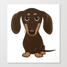 Chocolate Dachshund Canvas Print