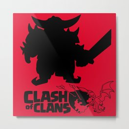Clash of Clans Metal Print