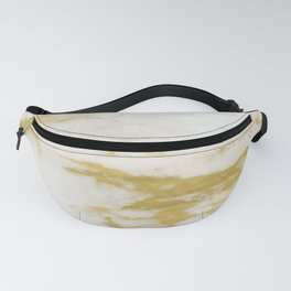 Marble - Shimmery Gold Marble and White Fanny Pack
