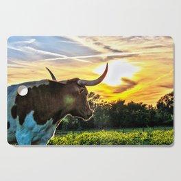 Illuminated Longhorn Sunset Cutting Board